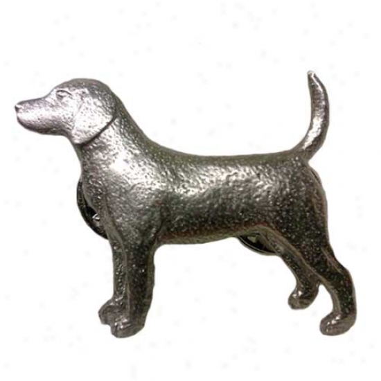 Beagle Pewter Pin