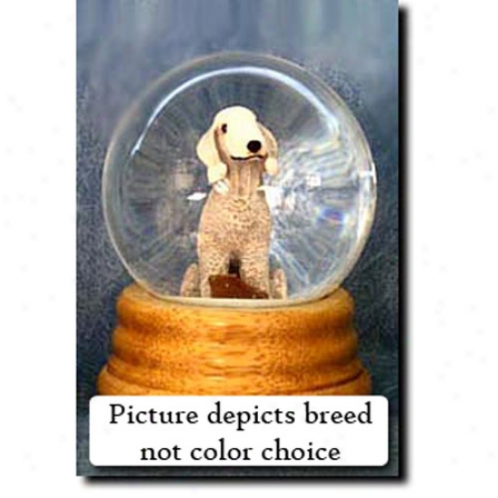 Bedlington Terrier (liver) Musical Snow Globe