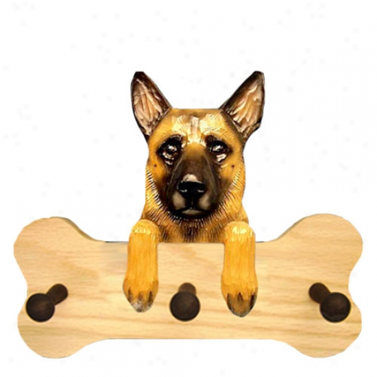 Belgian Malinois Bone Hang Up Nat8ral Oak