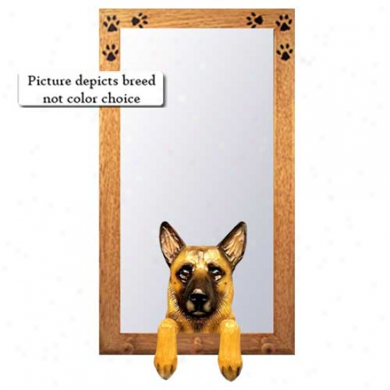 Belgian Malinois Hall Pattern With Oak Natural Frame