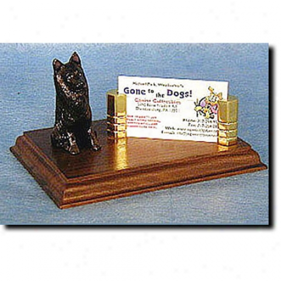 Belgian Sheepdog Business Card Holder