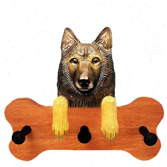 Belgian Tervuren Bone Hang Up Maple End