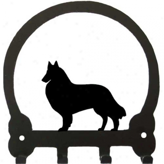 Belgian Tervuren Key Rack By Sweeney Ridge