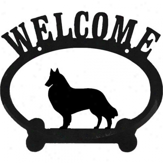 Belgian Tervuren Metal Welcome Sign