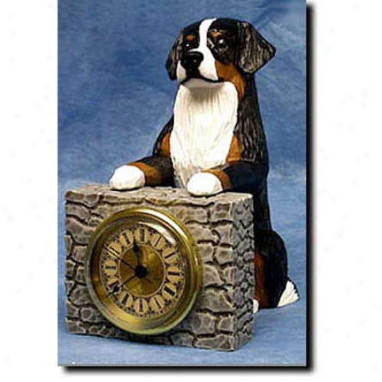 Bernese Mountain Dog Mantle Clock