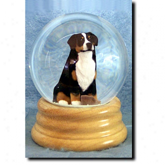 Bernese Mountain Dog Musical Snow Globe