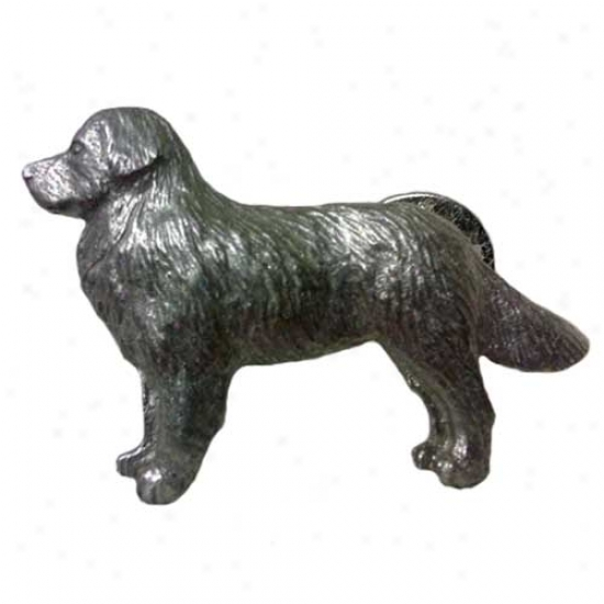 Bernese Mountain Dog Pewter Straw