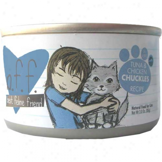 B.f.f Tuna And Chicken Chuckles Cat Food 3oz Cover  Of 12 Cans