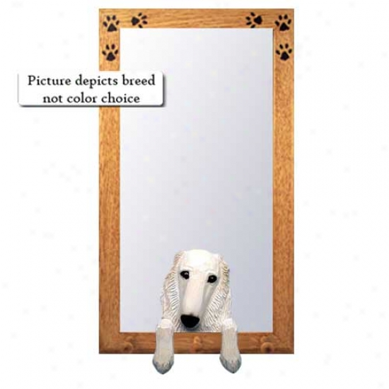 Bi Borzoi Hall Mirror With Oak Natural Frame