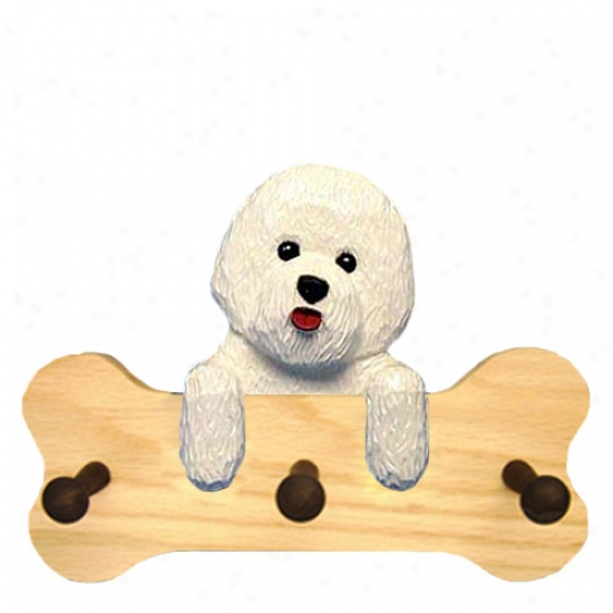 Bichon Frise Bone Hang Up Natural Oak