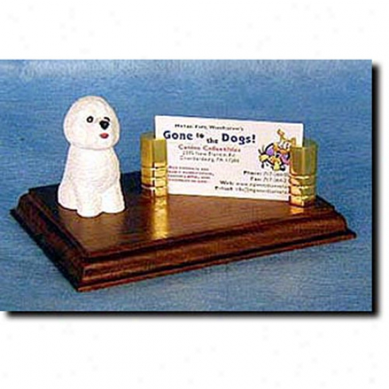 Bichon Frise Business Card Holder