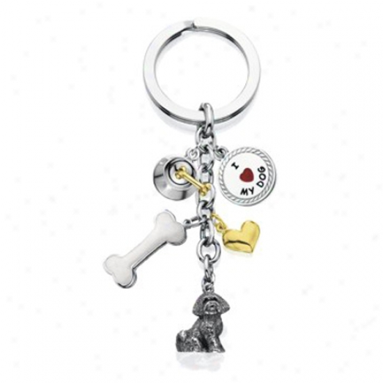 Bichon Frise - I Love My Dog Keychain