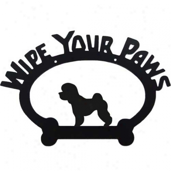 Bichon Frise Wipe Your Paws Decorative Sign