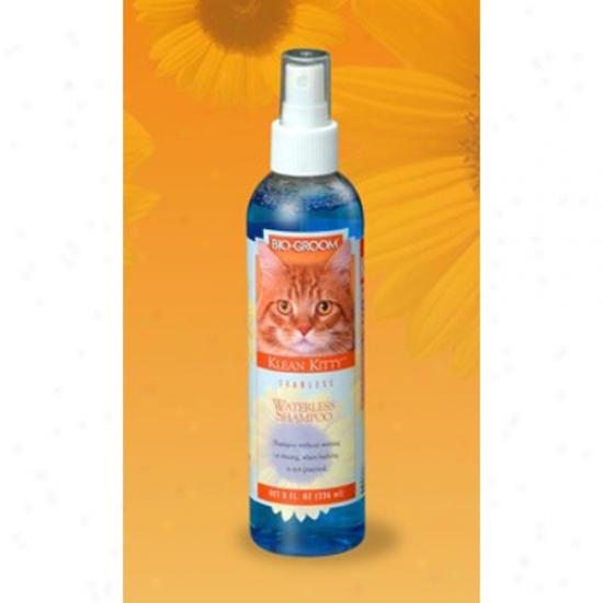 Bio-groom Klean Kitty Waterless Shampoo, 8oz Bottle