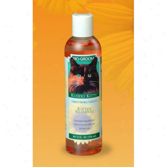 Bio-groom Kuddly Kitty Tearless Shampoo For Kittens, 8oz Bottle