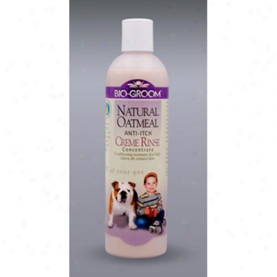 Bio-groom Natural Oatmeal Creme Rinse, 12oz Bottle