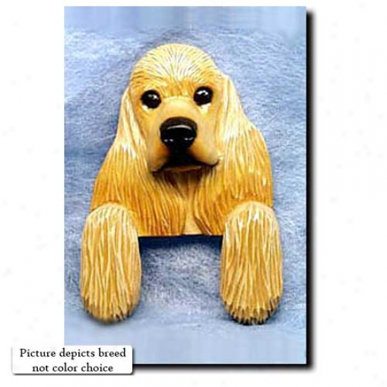 Black  An dTan Cocker Spaniel Door Topper