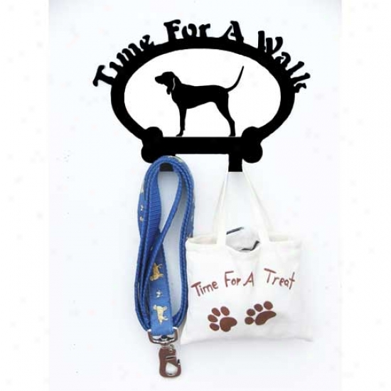 Mourning And Tan Coonhound Leash Holder
