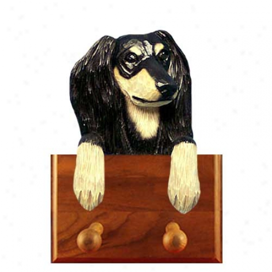 Black And Tan Saluki Leash Holder