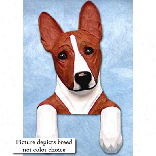 Black And White Basenji Door Topper