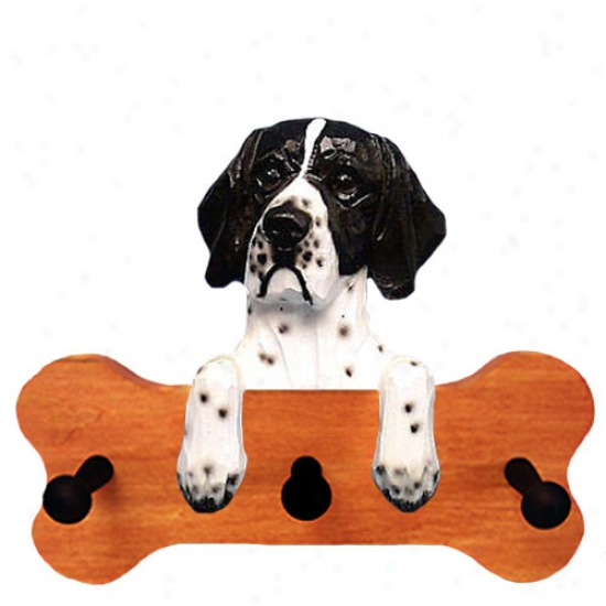 Black And White Pointer Bone Hang Up Maple Finish