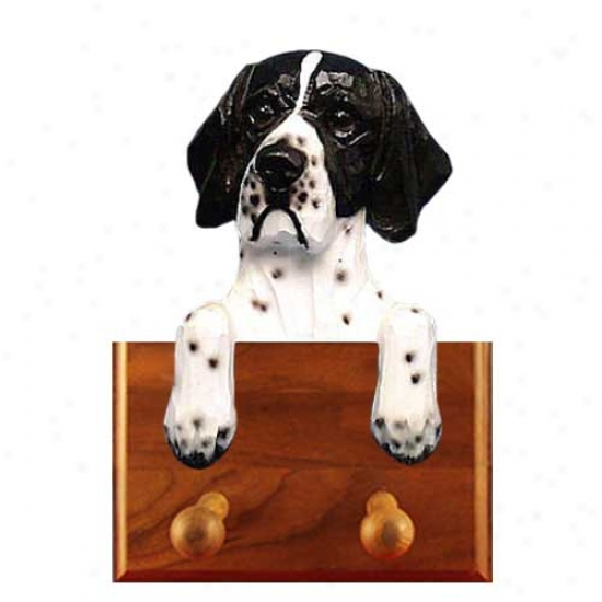 Black And White Pointer Leash Holder