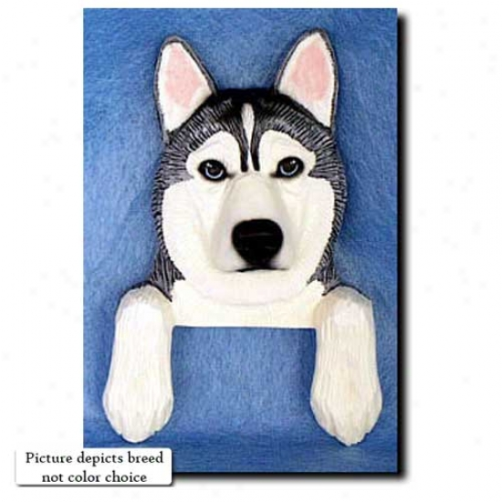 Black And White Siberian Husky Door Topper