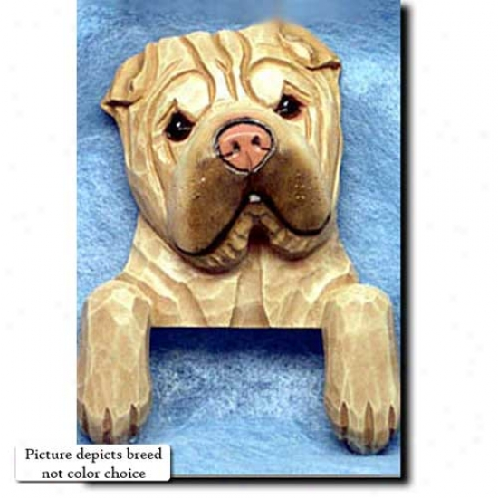 Black Chinese Shar-pei Door Topper