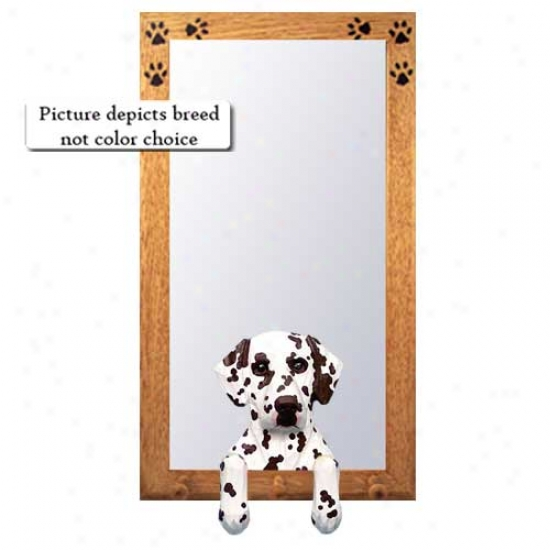 Black Dalmatian Hall Mirror With Basswood Languish Frame