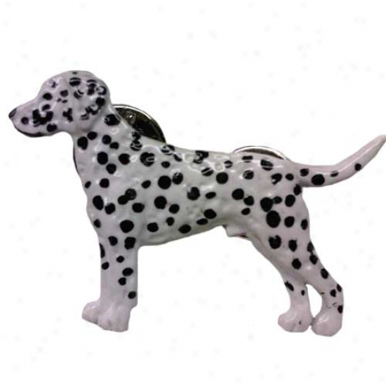 Murky Dalmatian Hand Painted Pin