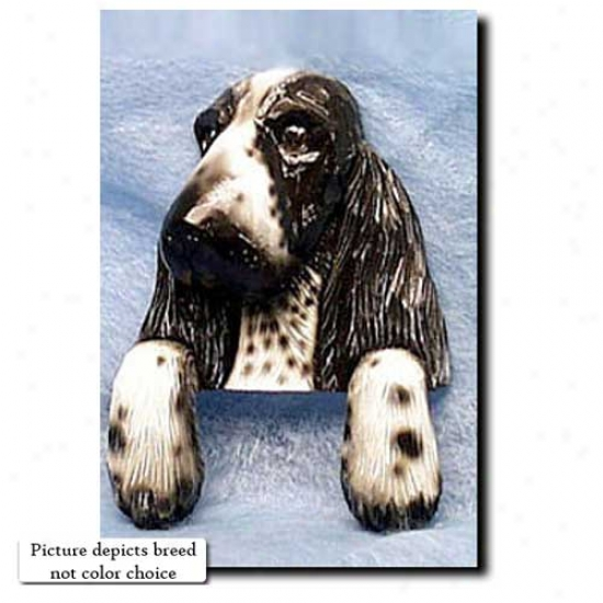 Black English Cocker Spaniel Door Topper