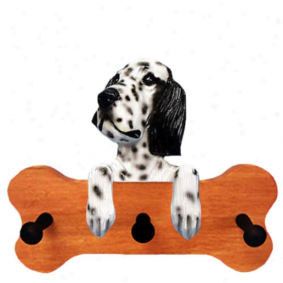 Black English Setter Bone Hang Up Maple Finish