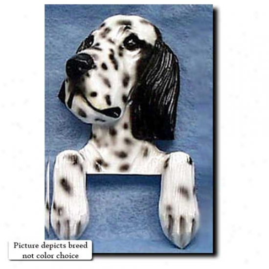 Black English Setter Door Topper
