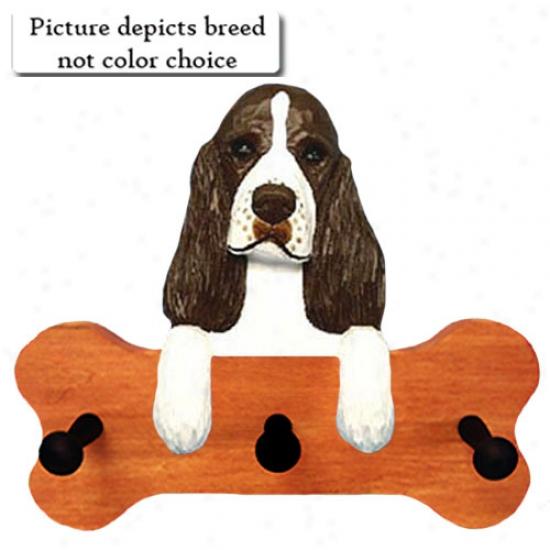 Black English Springer Spaniel Bone Hany Up Maple Finish