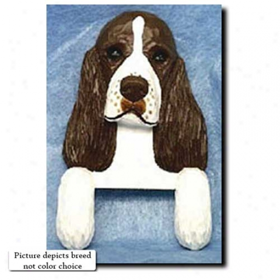 Black English Springgeer Spaniel Door Topper