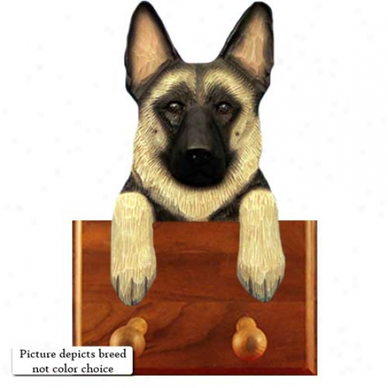 Black German Shepherd Dog Leash Holder