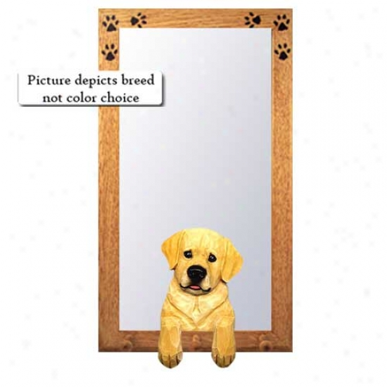 Black Labrador Retriever Hall Mirror With Basswood Pine Frame Youth