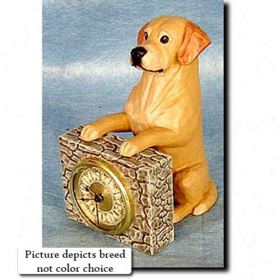 Black Labrador Retriever Mantel-piece Clock