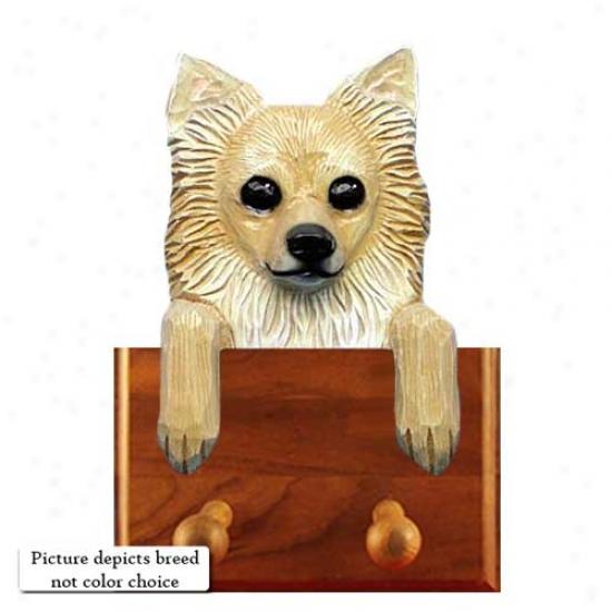 Black Longhair Chihuahua Leash Holder