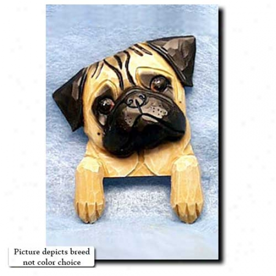 Black Pug Door Topper