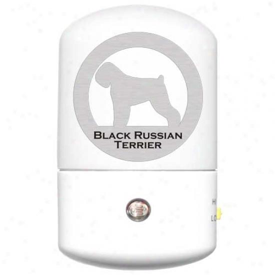 Black Russian Terrier Led Night Light