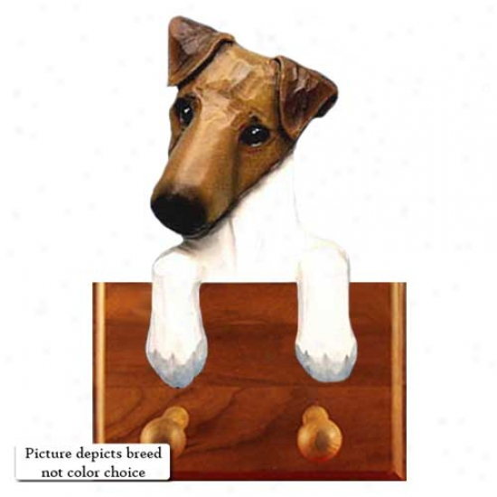 Black Smooth Fox Terrier Leash Holder