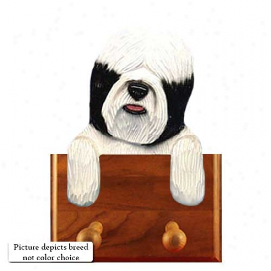 Black Tibetan Terrier Leash Holder