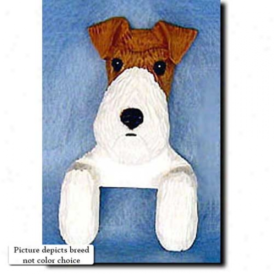 Black Wire Fox Terrier Door Topper