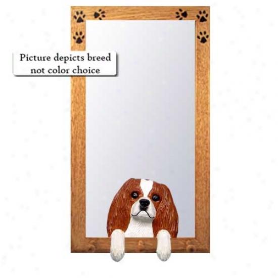 Blenheim Cavalier Sovereign Charles Spaniel Hall Mirror With Basswood Pine Invent