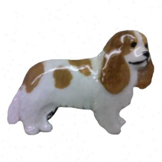 Blenheim Cavalier King Charrles Spaniel Hand Painted Pin