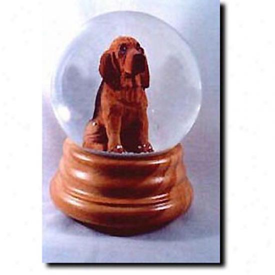 Bloodhound Musical Snow Globe
