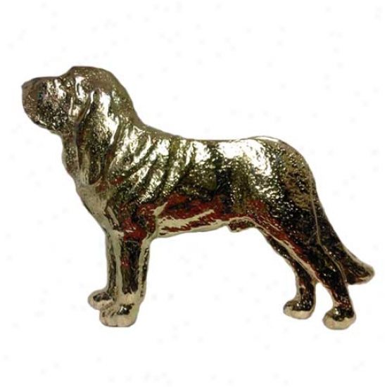 Bloodhound Pin 24k Gold Plated