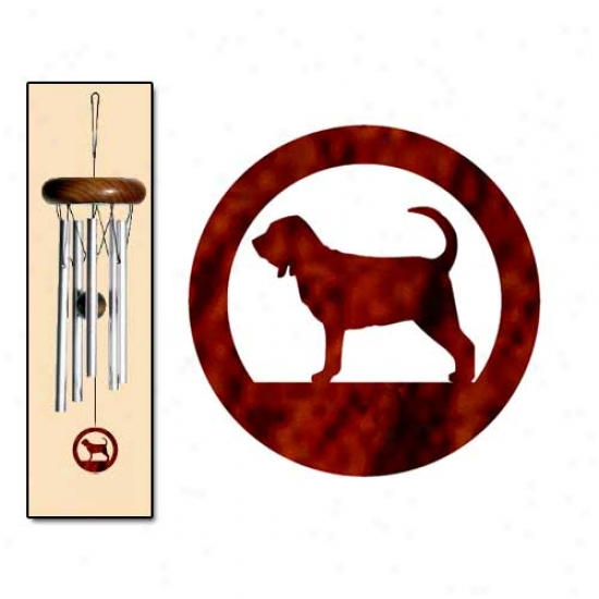 Bloodhound Wind Chimes X-small Silver