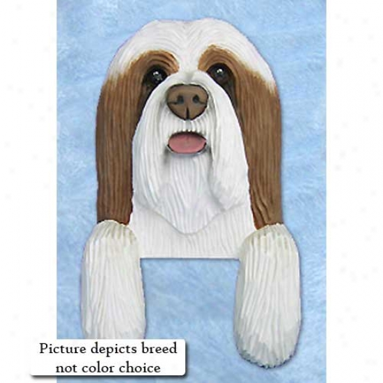 Blue And Of a ~ color Bearded Collie Door Topper